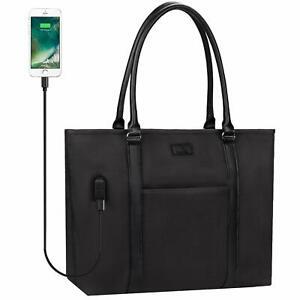 Women Laptop Tote Bag Fits 15.6 inch Laptop Large Teacher USB Office Work Bag