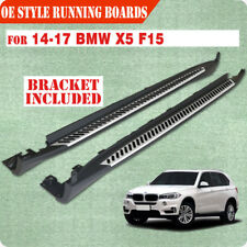 Fit 14-17 BMW X5 F15 Side Steps Running Boards Nerf Bar Rail OE Style Aluminum