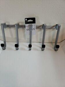 Umbra Loft Linger Over the Door 5 Hook  Black/Nickel- Max weight 3lb per hook .