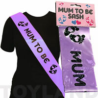 BABY SHOWER MUM TO BE SASH PARTY FUN GIFT RIBBON ACCESSORY PREGNANT MOTHER TO BE