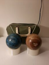 Vintage Duck Pin Bowling Balls with carry bag, 3.6  pounds each