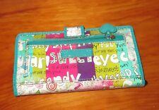 RELIC blue candy sweet sugar pie Holographic Bi-Fold Organizer Wallet NEW