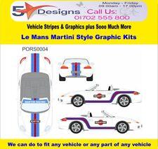 PORSCHE Boxster 986 1996-204 Le Mans Martini Race Rally Logo Graphics Kit 4