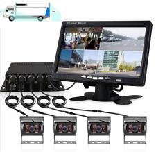 """Überwachungskameras Recorder + 7"""" Monitor + 4x  Einparkkameras Lkw Bus 12V 24V"""