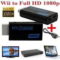 Full HD Wii To HDMI 1080P Upscaling Converter Adapter With 3.5 mm Audio Cable