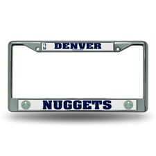 Denver Nuggets NBA Chrome Metal License Plate Frame FREE US Shipping