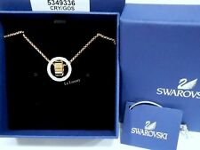 Gold-Plated Crystal Authentic Mib 5349336 Swarovski Hollow Pendant Small, White,