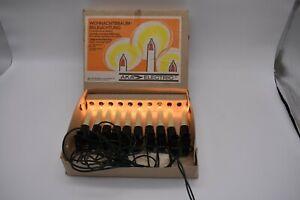 Weihnachtsbaumbeleuchtung, Lichterkette 10 Kerzen, AKA electric, 1980er DDR
