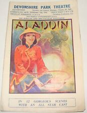 Devonshire Park Theater ALADDIN 1946 Ad Program Brochure Theatre Pantomime