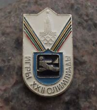 1980 Moscow Russia Summer Olympic Games Yachting Sailing Yacht Event Pin Badge