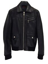 DSQUARED2 MENS BLACK LEATHER BOMBER JACKET 46 / SMALL / EXCELLENT COND /  £1500