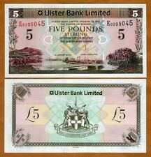 Ireland Northern, Ulster Bank, 5 pounds, 2013, P-340b, Unc > replaced by polymer
