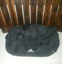 Adidas Fresh PAK Black Nylon Large Sports Bag Carry On Travel Duffel Gym Bag