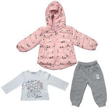 3tlg chica set acolchada chaqueta camisa pantalones chándal deportivo niños estrellas bebé