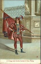 Siena Italy Guards in Uniform w/ Flag c1910 Postcard #5 TORRE