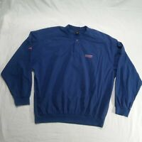 Nike Golf Men Extra Large Sweater Blue Long Sleeve Mid Button *01R