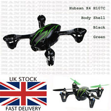 Hubsan X4 H107C Body Shell black green - Spare Parts for Quadcopter Drone UK new