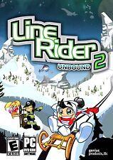 Line Rider 2 Unbound PC Games Windows 10 8 7 XP Computer arcade puzzle NEW