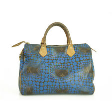 Louis Vuitton Limited Edition Yayoi Kusama Blue Monogram Canvas Town Speedy 30