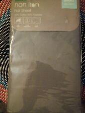 Dunelm Mill Single Flat Sheet. Non Iron, slate grey 180 x 260 cm Bedding.