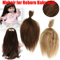 Mohair for Rooting Reborn Baby Doll DIY Supplies Doll Kit Gold Brown