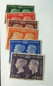 Great Britain Stamp Scott# 252-257 Victoria & King George VI 1940 Used  H126 (2)