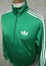 RETRO ADIDAS FIREBIRD TRACKSUIT TOP SIZE SMALL GREEN