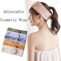 Adjustable Facial Hairbands Makeup Head Band Toweling Hair Wrap Band Shower Cap
