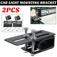 2x Car SUV Roof Rack Light Bracket Holder Bumper Mounting Kit for Work Light