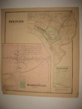 Antique 1869 Columbia Tusculum Madisonville Pendleton Cincinnati Ohio Hndclr Map