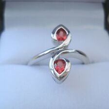 Certified Rare Natural Tanzanian Ruby White Gold Ring