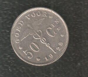 BELGIUM 50 CENTIMES 1928