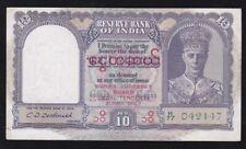 INDIA / BURMA ------- 10  RUPEES  1945 ------ VF -----