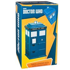 NEW Doctor Who Tardis Wooden Jewelry Box with Drawers Whovian Gift Fast Ship