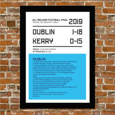 DUBLIN GAELIC FOOTBALL - ALL IRELAND 2019 - FRAMED PRINT PICTURE POSTER.