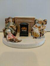 Sebastian Miniatures America Remembers Family Reads Aloud 1980 Ceramic Piece