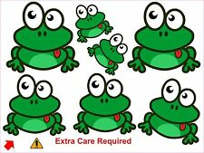 Frog  stickers 21 colour printed vinyl  decals wall , car, furniture, fridge etc