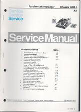 Colore colore di servizio manuale Philips telaio TV GR2. 1 (90)