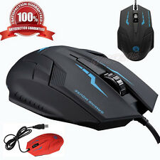 2400 DPI Optical USB 2.0 Wired 3D Mice Professional Gaming Mouse For PC Computer