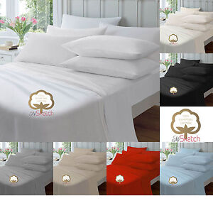 Luxury 100% Egyptian Cotton Fitted Sheets 23CM Single Double King Super King,YAW