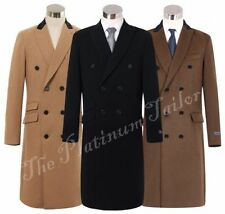Collared Overcoat Double Breasted Coats & Jackets for Men