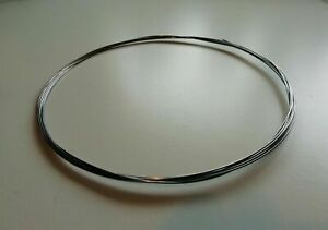 """1 Metre Length (3ft 3"""") ROSLAU Finest German Polished Piano Wire & Spring Steel"""
