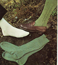 Mens Socks Knitting pattern- nice designs to knit in 4 ply- Vintage Pattern