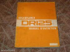 MANUEL REVUE TECHNIQUE ATELIER SUZUKI DR 125 125DR 83-