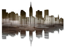 New York City Reflection III Contemporary Metal Wall Sculpture by Ash Carl