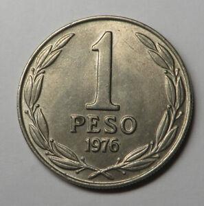 Chile Peso 1976 Copper-Nickel KM#208 UNC
