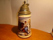 Porcelain stein with litho