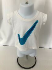 Nike girls 12 months white cap sleeve t-shirt with Nike insignia on front