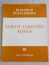 Malcolm Williamson North Country Songs Low Voice Piano Unmarked