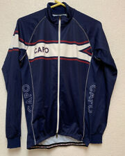 Mens Capo Long Sleeve Cycling Jersey Sz M Wind Blocking Front Excellent Con
